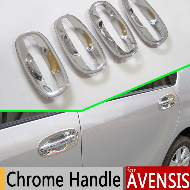For Toyota Avensis Luxurious Chrome Door Handle Covers Accessories Stickers Car Styling Corolla 2010 2011 2012 2014 2015(China (Mainland))