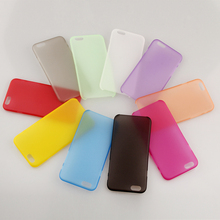 10pcs/lot 0.3mm Ultra thin Colorful Transparent Plastic Material Case Cover For iPhone 6 Plus Cell Phone Shell(China (Mainland))