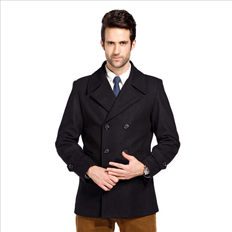Men Coat Double Breasted Peacoat Manteau Homme Gasalho Casacos Masculino Wool Male Men Jacket Male Overcoat M - 3XL Overcoat(China (Mainland))