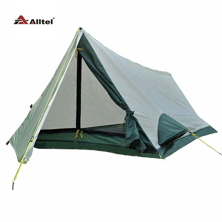 Alltel echt enkele laag aluminium paal tenten outdoor camping enkele tent(China (Mainland))