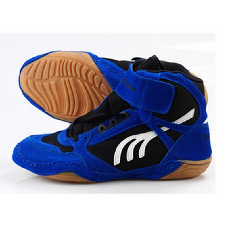 2015 New arrival professional wrestling match wrestling shoes supper breathable men sports shoes training shoes #B1502
