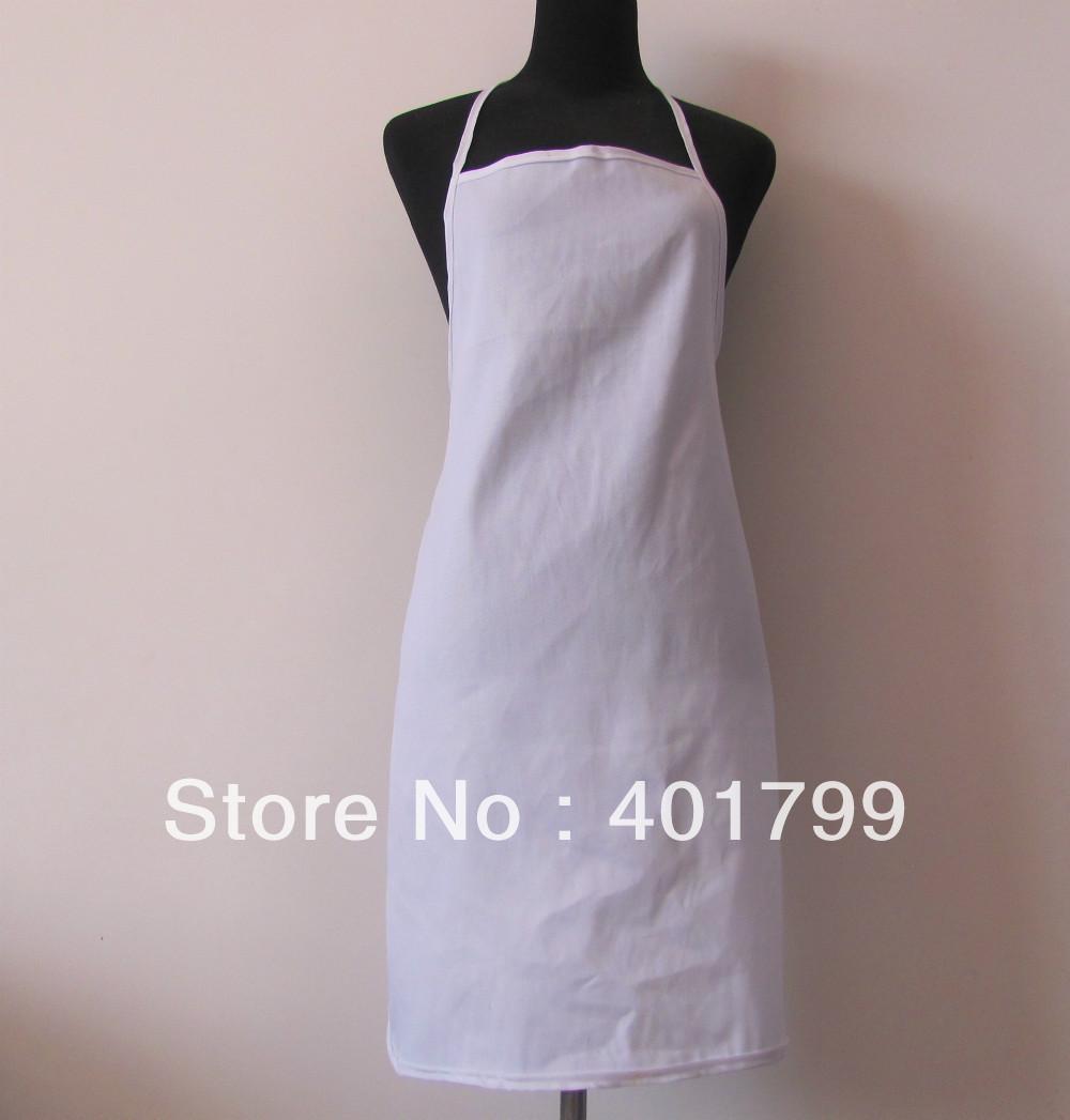 free shipping cheape polyester 100% cotton promotion kitchen Apron 5 pcs/lot(China (Mainland))