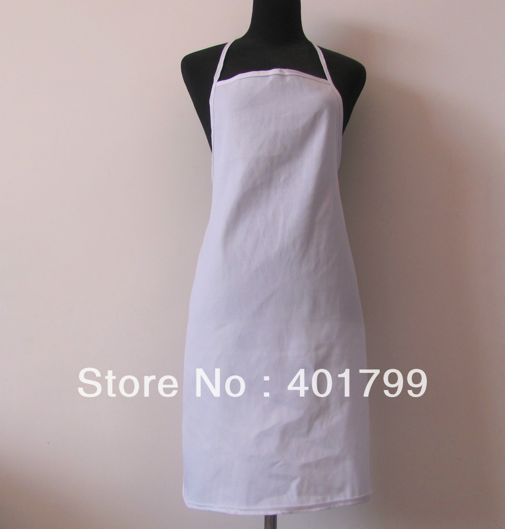 free shipping cheape polyester 100% cotton promotion kitchen Apron 5 pcs/lot(China (Mainland))