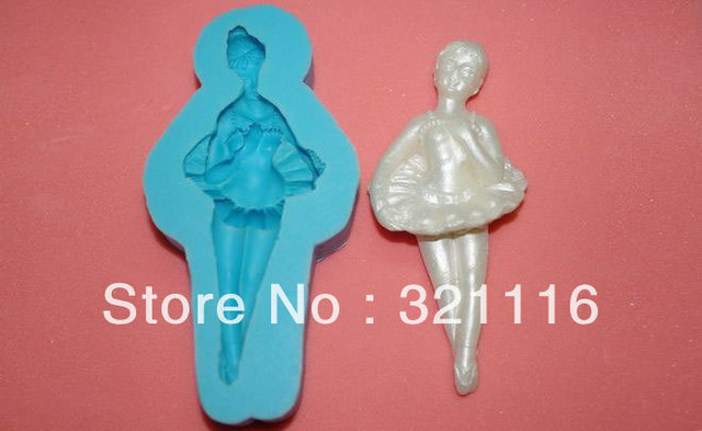 Free Shipping Silicone cake tool,Ballet cutter fondant cake decoration,DAB 3d molds,Cake cutter mold for party,TS39066