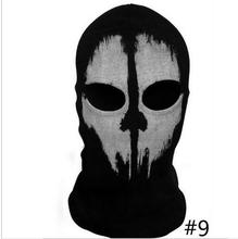 Ghost Skull Full Face Mask Cosplay Balaclava Paintball Outdoor CS Hood WarGame Airs oft Hunting Army Tactical Masks #9(China (Mainland))