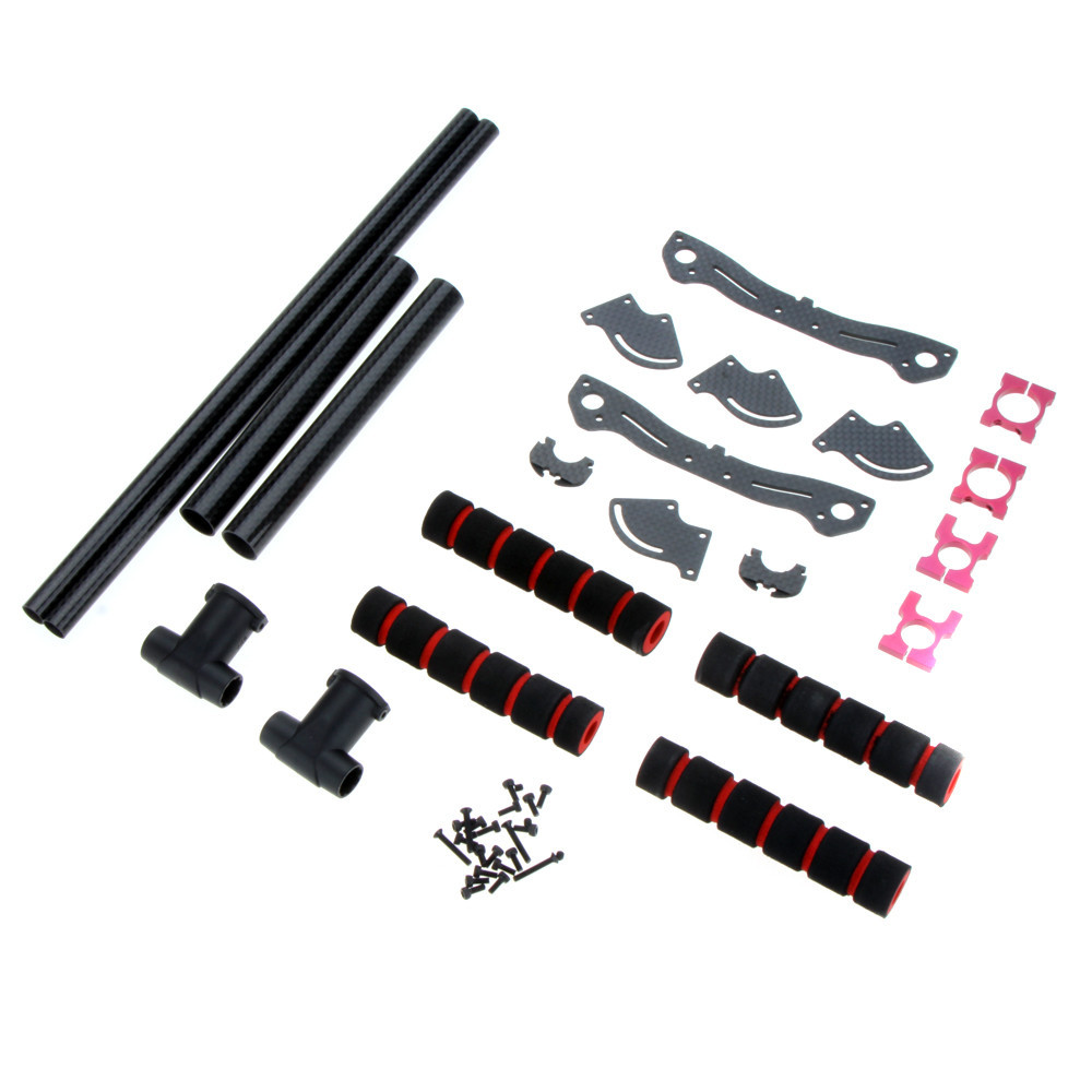 Upgrade Carbon Fiber Tall Landing Skid Gear Kit for DJI Phantom 1 2 Vision FPV RC Quadcopter