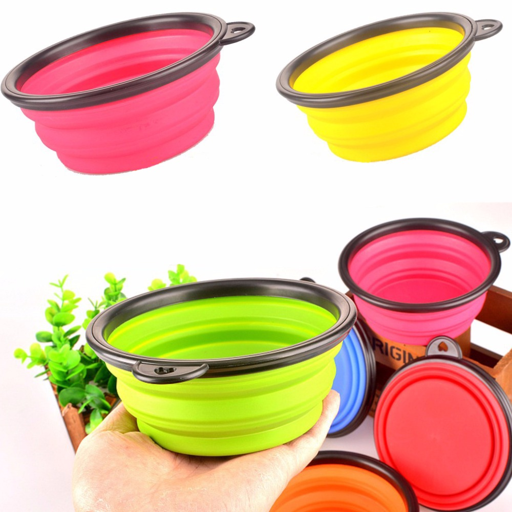 Pet Products silicone Bowl pet folding portable dog bowls black frame wholesale for food cat dog drinking water bowl pet bowls(China (Mainland))