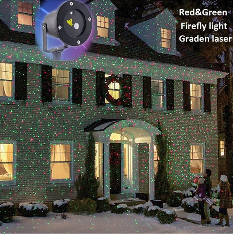 Outdoor IP65 Waterproof Laser Stage Light, Elf Christmas lights, Xmas Star laser light projector,Red Green Yark Decorations(China (Mainland))
