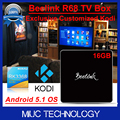 Beelink 16GB Flash R68 RK3368 64 Bits OCTA Core Android 5 1 OS Smart TV Box