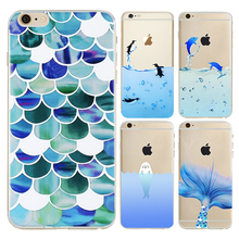 Buy Ocean Penguins Dolphins Design Coque iPhone 7 Plus Silicon Case Cover Soft TPU Rubber Transparent Clear Back Case for $1.40 in AliExpress store