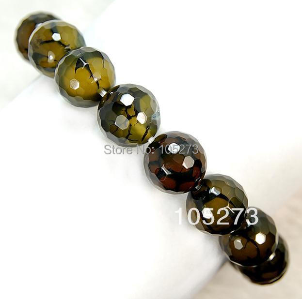 New Arriver Chirstmas Jewelry ! Lovely Natural 14mm Faceted Olive Fire Agate Bracelet 8inch Gemstone Elastic Bracelet Free Ship<br><br>Aliexpress