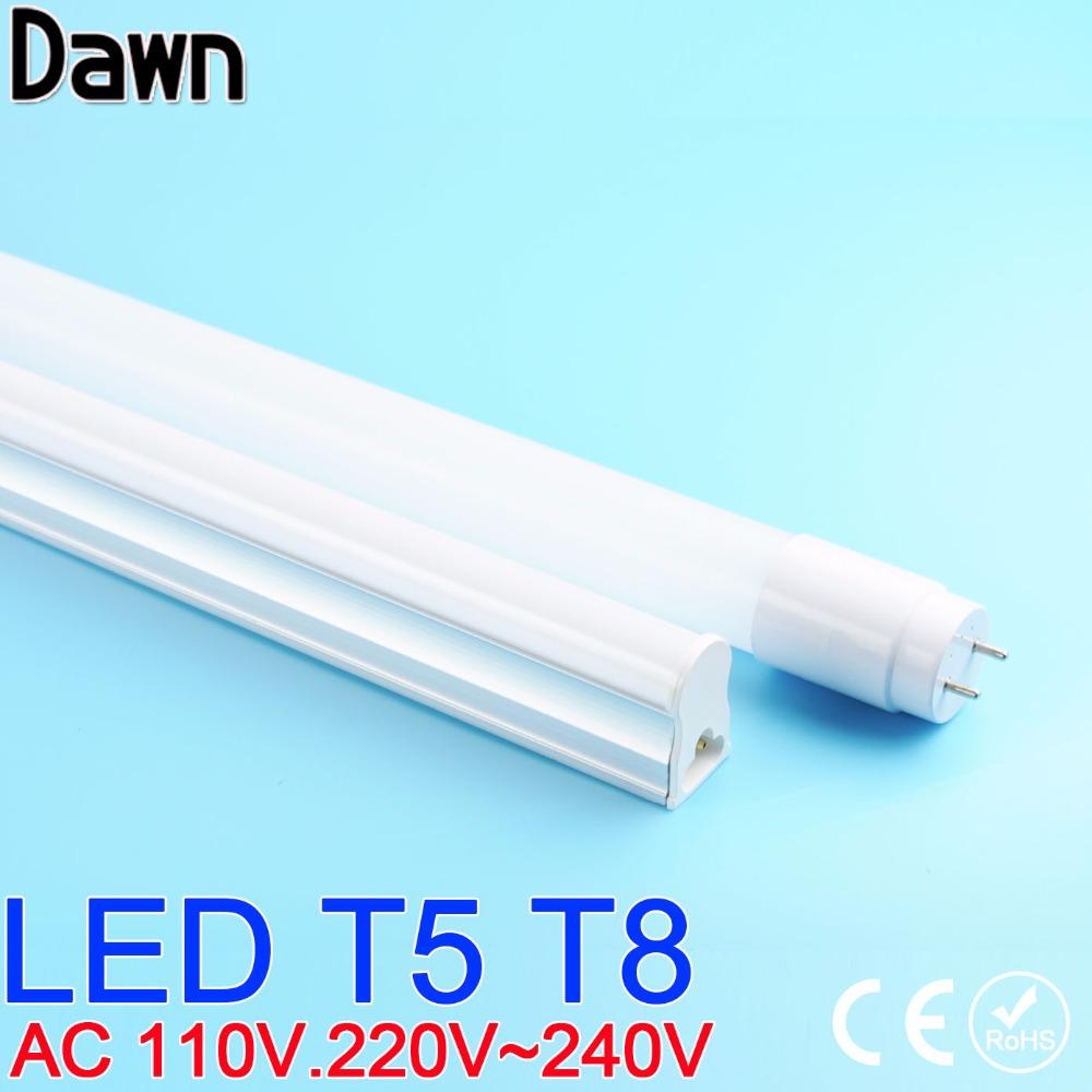 Top Quality PVC Plastic T5 T8 LED Tube Light 110V 220V 240V led T5 T8 lamp led wall lamp Warm Cold White led fluorescent T5 neon(China (Mainland))
