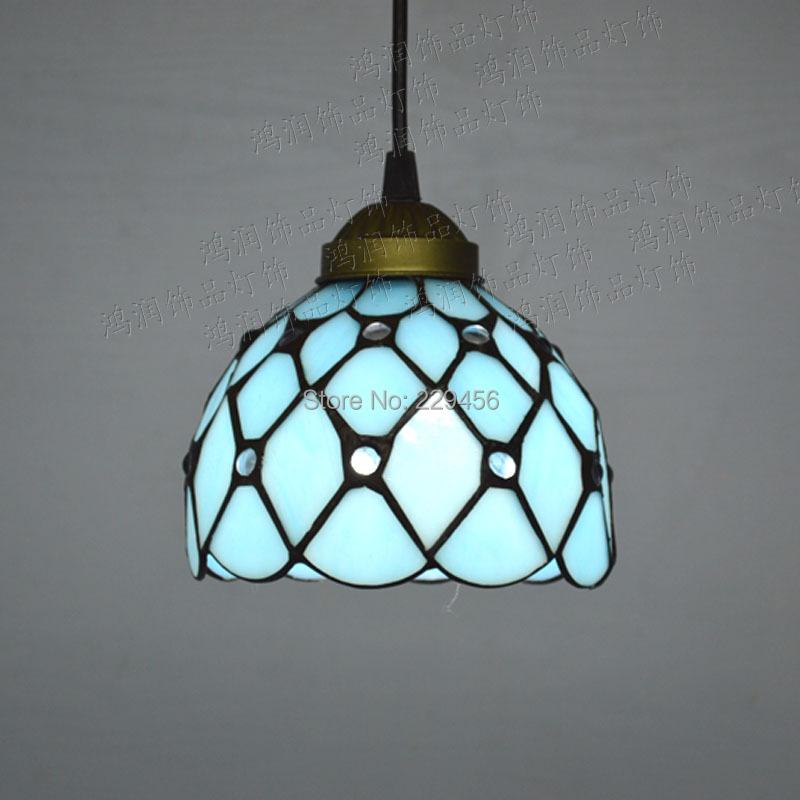 Tiffany Pendant Light Mediterranean Sea Style Lake Blue