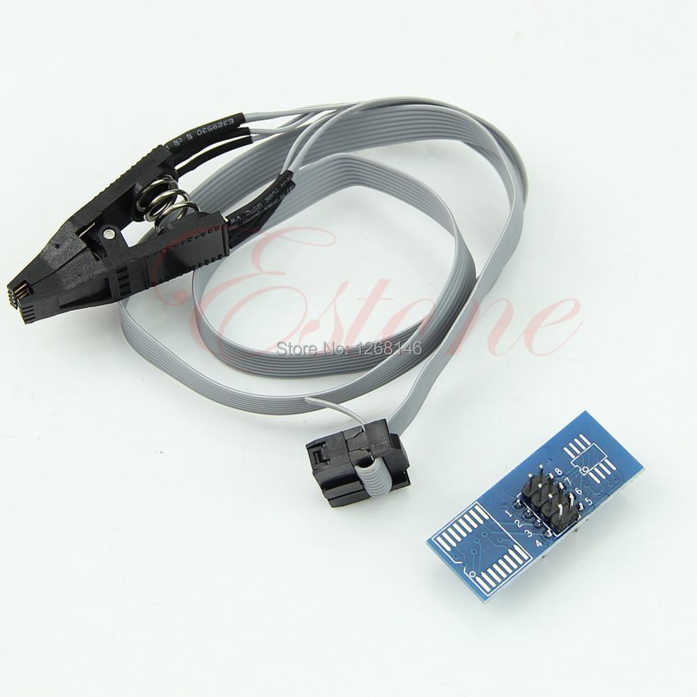 Free Shipping Hot BIOS/24/25/93 Programmer SOIC8 SOP8 Flash Chip IC Test Clips Socket Adpter(China (Mainland))