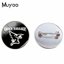 2018 New Rock Band Black Sabbath Paranoico Illustrazioni Spilla Pins Black Sabbath Logo Spille Vintage Mano craft Pin Gioielli(China)