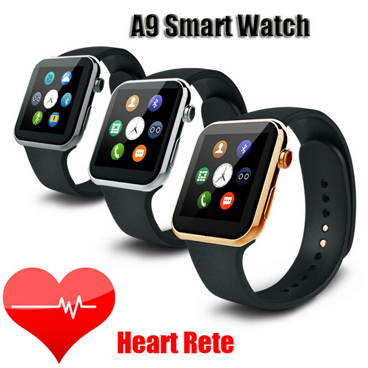 Newest Smart watch A9 Bluetooth Smart watch for Apple iPhone & Samsung Android Phone are all comppatitble with heart rate test(China (Mainland))