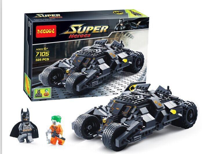 Decool 7105 325pcs/set Marvel DC Avengers Batman's Racing Car Model/New Design TUMBLER BAT POD 3D Building Block Set Toys(China (Mainland))