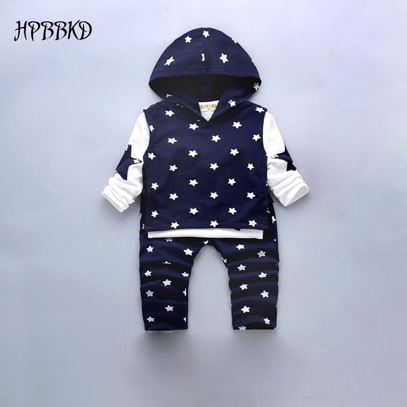 2016 New Autumn Baby Boy Set Cotton Boy Clothes Three-piece Kids Infant Children Fashion Hoodies BS-185 sports suit baby clothes(China (Mainland))