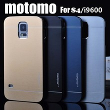 Top Quality Motomo Luxury Metal Brush Gold Case Cover For Samsung S4 Aluminum and PC Hard Back Phone Cover Bags Free Shipping(China (Mainland))