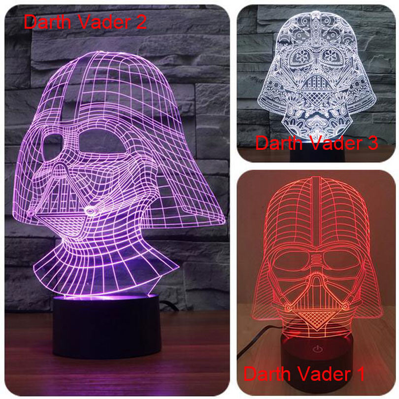 Creative Star Wars touch dimming Lamparas 3D Led Darth Vader 7 Color Changing RGB LED Desk Light Night Lamp USB Lava Lamp(China (Mainland))
