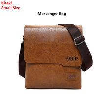 Jeep buluo homem mensageiro saco 2 conjunto masculino couro do plutônio sacos de ombro negócios crossbody saco ocasional famosa marca zh1505/8068(China)