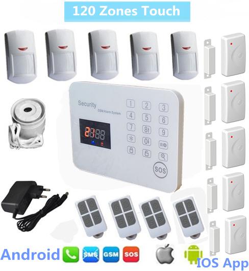 Buy 120 zone china wireless wired burglar for Alarme maison gsm