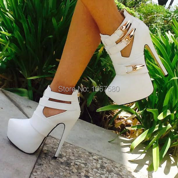 Cociy Womens Coppy Leather Spring Autumn White Platform Party High Heels Wedding Shoes 2015 High Pointy Toe Pumps<br><br>Aliexpress