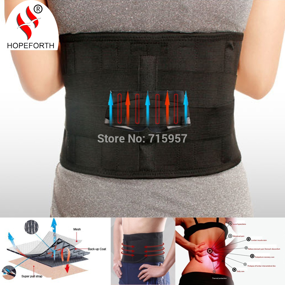 Hopeforth Lumbar Support Brace Hot Sale Fashion Breathable Mesh Four Steels Plate Protection Back Waist Support Belt(China (Mainland))