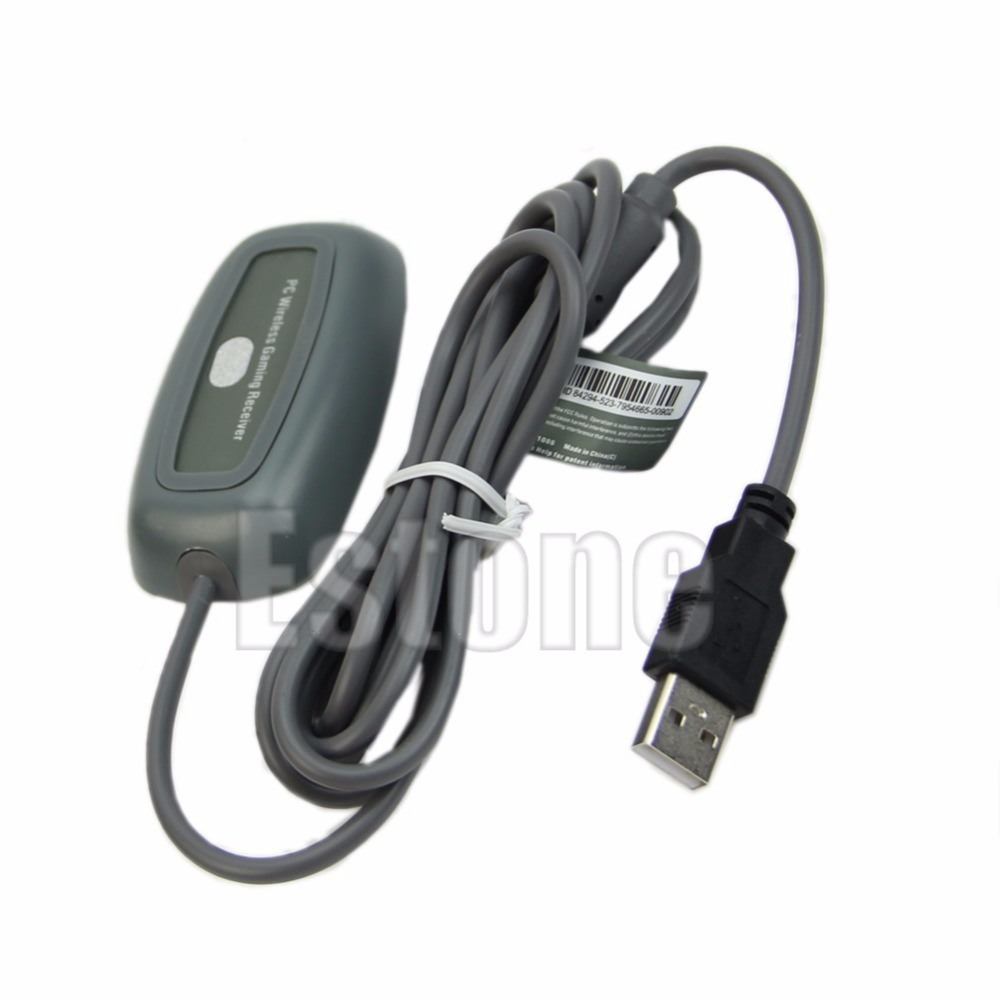 hot PC Wireless Gaming USB Receiver Adapter For Xbox 360 Games Controller Black White(China (Mainland))