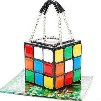 New Fashion Design, Designer Handbags, Love Colourful Magic Cube Handbag, Magic Cube bag, Tote bag Lady's Handbag Dorp shipping