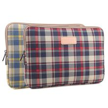 2015 Fashion Plaid Laptop Bag Notebook Sleeve For Apple MacBook Air 11 13 Pro Retina 13.3 15.4 inch For Mac book Computer Case
