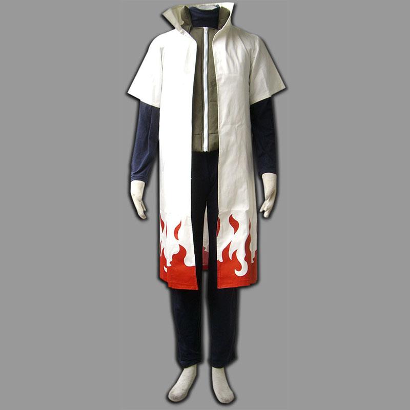 Hot Anime Cosplay Naruto Costume Yondaime Hokage Namikaze Minato Uniform Cloak Set Kakashi Teacher Cosplay Costumes(China (Mainland))
