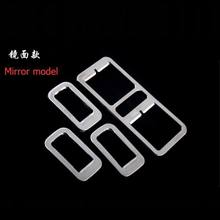4 PCS DIY New ABS Chrome Car styling window lift button Decorative light box cover case For Volkswagen vw POLO parts accessories