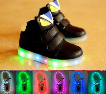 2016 European Fashion Colorful Lighted casual kids sneakers high quality cool children boots hot sales boys girls kids shoes