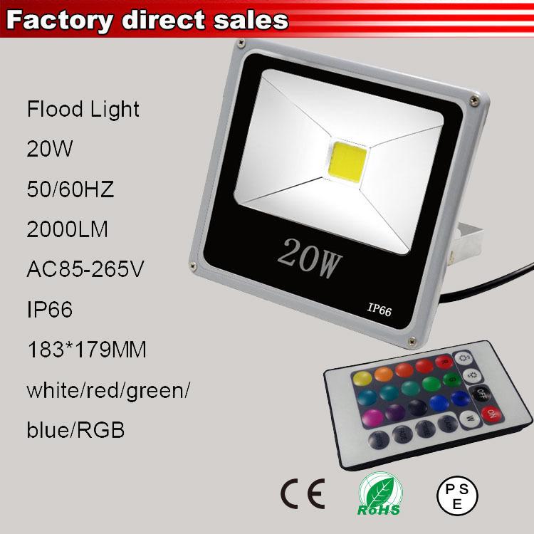 20w led flood light garden spotlight projecteur outdoor le led rgb eclairage exterieur