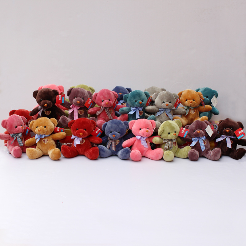 about 20cm beautiful teddy bear plush toy one lot / 10 pieces doll soft toys gift w5104<br><br>Aliexpress