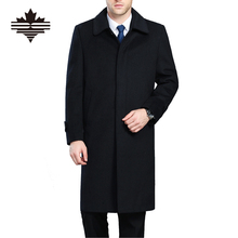 Men's Wool Coats & Jackets Winter Cashmere Jacket Man Long Section Single Breasted Overcoat Turn-down Collar Casual Woolen Coat(China (Mainland))