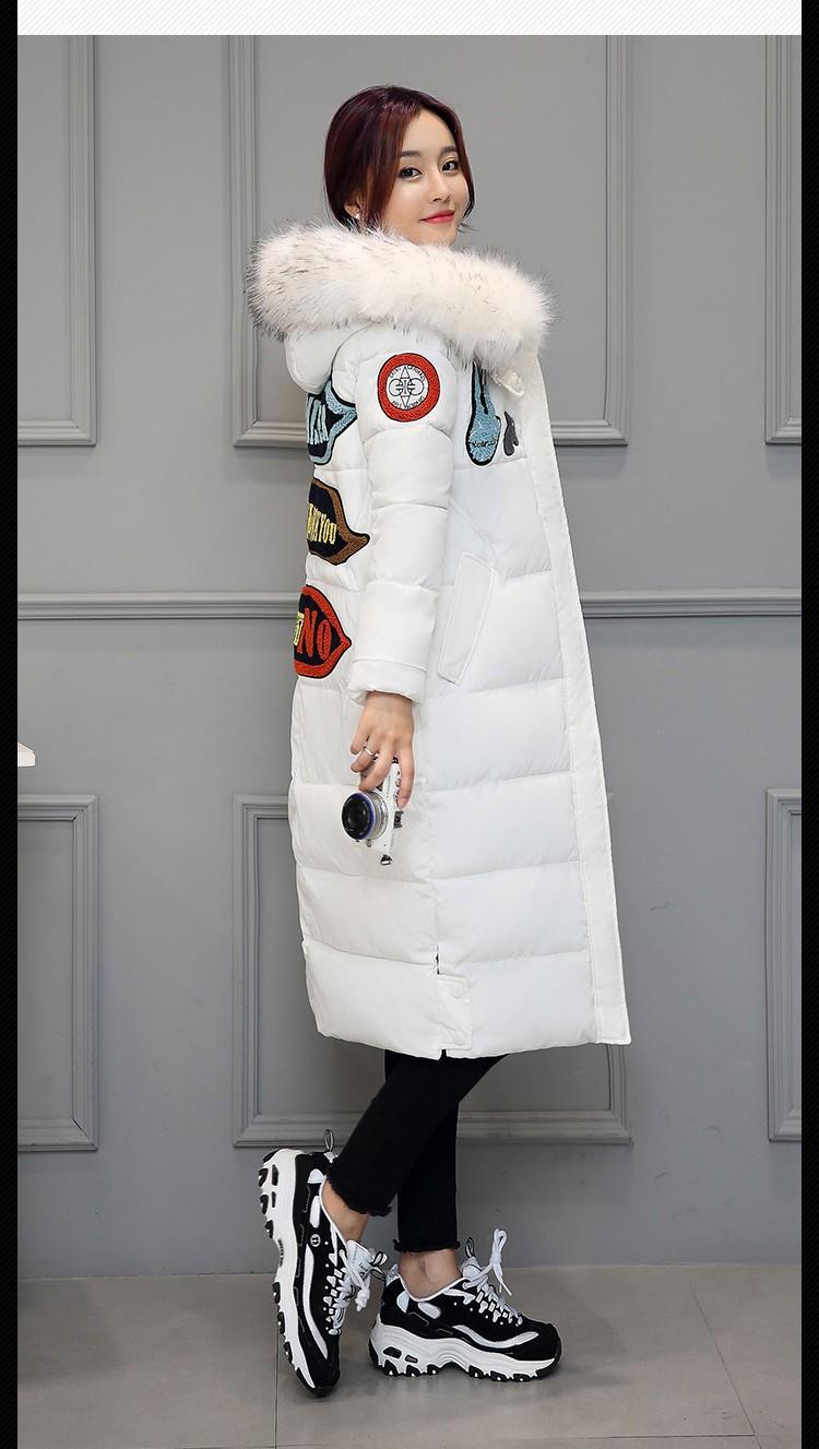 Скидки на 2016 Размер М-2XXL Женщин Зимняя Куртка Теплая Куртка Army Green розовый Вниз Длинное Пальто Сгущает Теплый Ведьма С Капюшоном Хлопок Внутри ветрозащитный