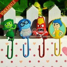 Free shipping 4pcs/set  Inside Out Paper Clips /Bookmarks for Book Page Holder,School/Office Supply Stationery (China (Mainland))