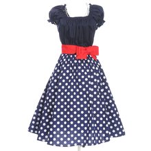 FREE SHIPPING plus size clothing retro inspired 50s style swing dancing full circle pin up dresses polka dots new spring fast(China (Mainland))