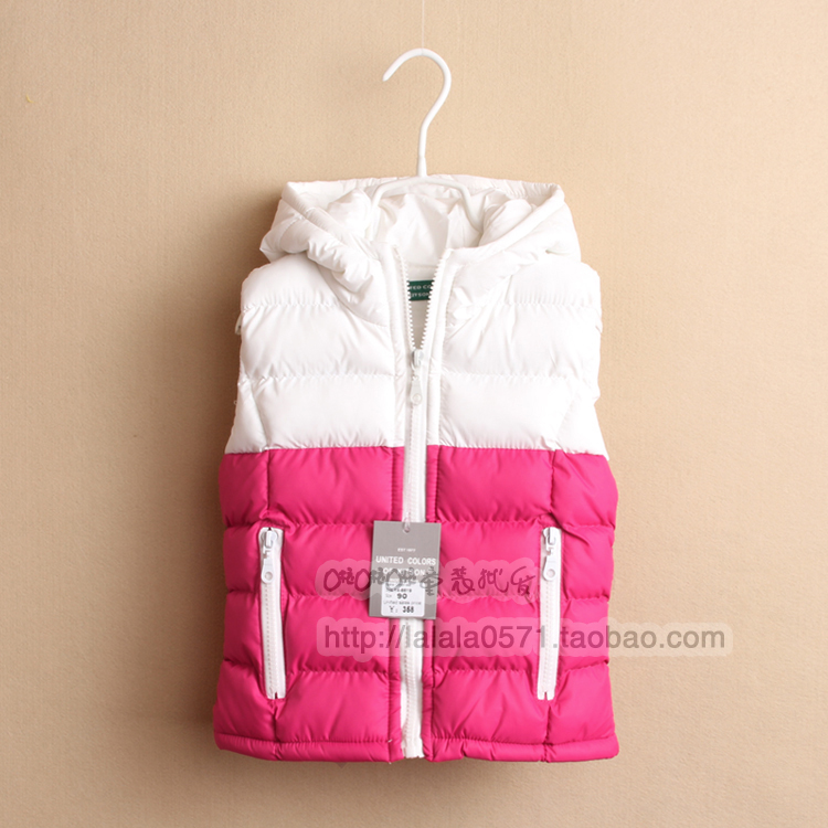 childrens clothing girl s brand Hooded color block decoration vests &amp; waistcoats baby casual waistcoats kids wadded jacket <br><br>Aliexpress