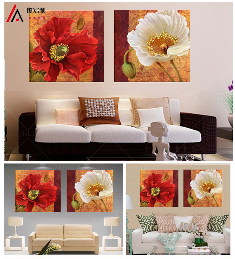 Fashion Classic home decor Modular pictures cuadros art wall oil painting flower Print On modern Canvas decorativos no Frames-91(China (Mainland))