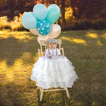 "Buy ourwarm White Tulle Tutu Table Skirt Baby Shower Chair Decoration 39""x 13.5"" fabric Table Skirts Wedding Birthday Decoation for $12.99 in AliExpress store"
