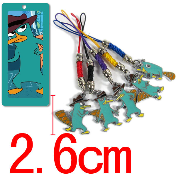 10pcs/lot Free Shipping Anime Cartoon Phineas and Ferb Phone rope Metal Figures Pendants Phonestraps ANPD1080<br><br>Aliexpress
