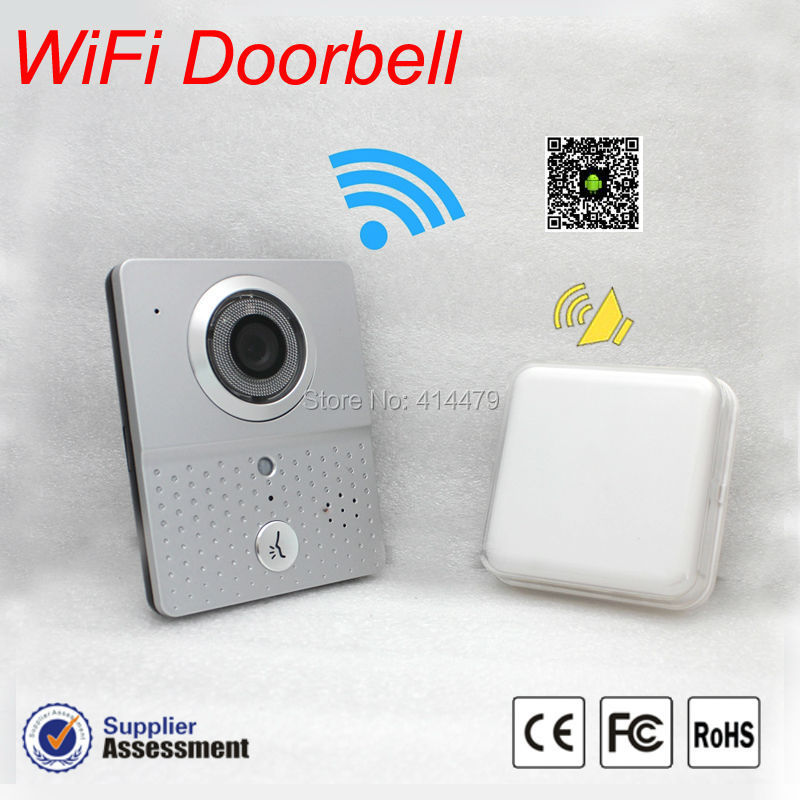 New Wireless wifi IP Doorbell camera video Recording Door Phone intercom with A Small indoor Bell Kit Mobile smart phone control(China (Mainland))