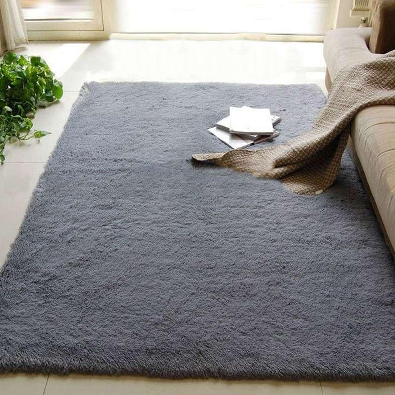 80x120cm long fluffy anti skid floor mat shag area rug