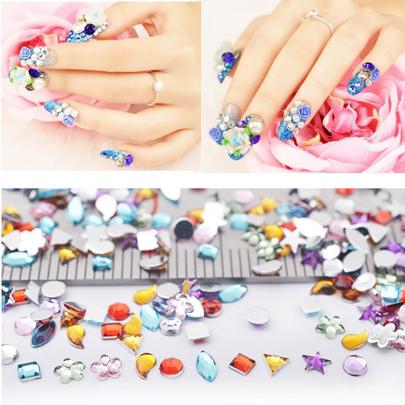 Mix Design 3d Rhinestone Nail Decoration,1440pcs/set Round Heart Crystal Glitter ss3 Art Deco DIY Beauty Accessroies - Fashion Queen Accessory Co. , Ltd store