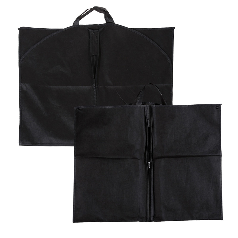 1pc Black Dustproof Hanger Coat Clothes Garment Suit Cover Clothing Hanging Type Storage Bags 100 x 60cm(China (Mainland))