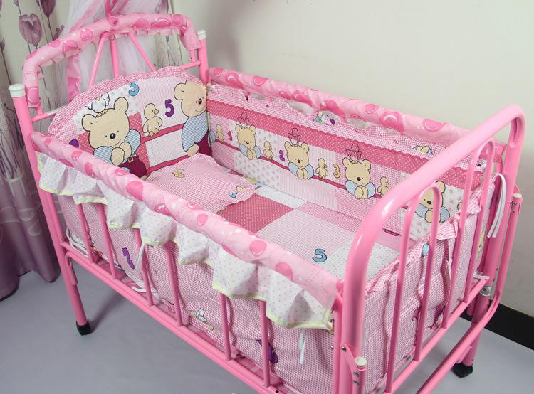 Фотография Promotion! 10PCS crib sheets is tasted suite baby bed wai/baby bedding sets (bumper+matress+pillow+duvet)