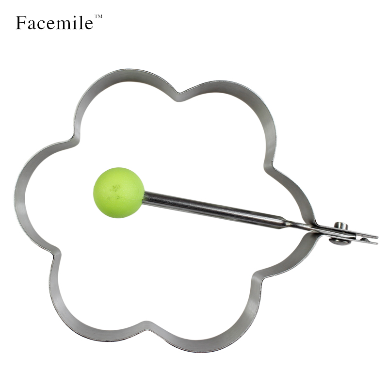 Plum Blossom Fried Egg Rings Pancake Sandwich Cutter Cooking Molds with Handle(China (Mainland))